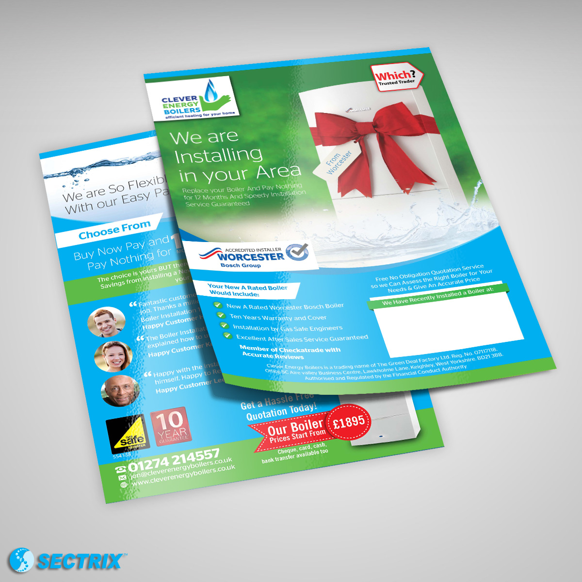 Clever Energy Boilers Flyer   SECTRIX - Graphic Design Services   IT ...