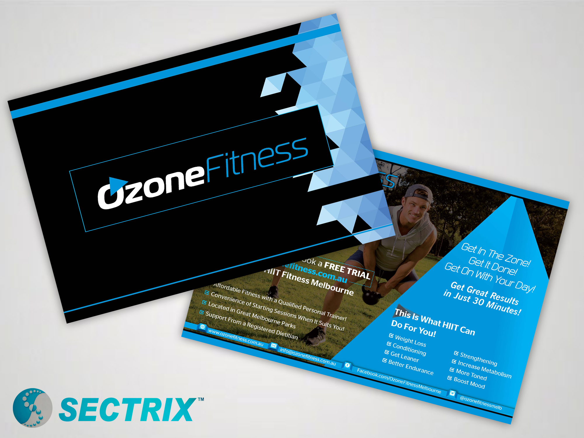 ozone fitness sectrix graphic design services