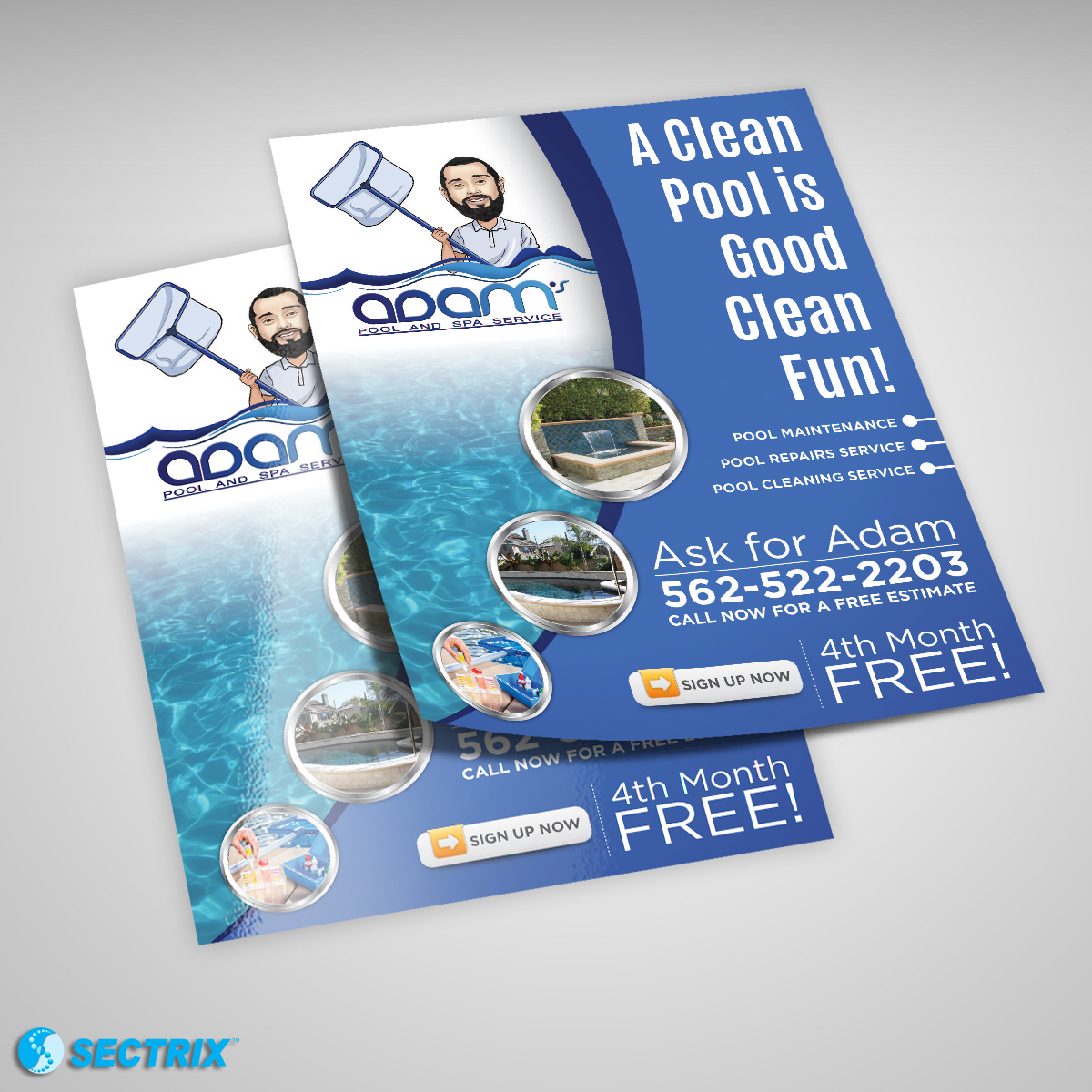 Adam Pool and Spa Services SECTRIX Graphic Design Services IT